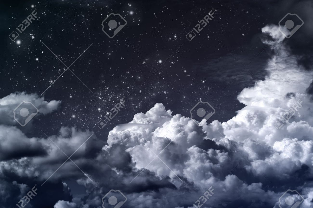 Cloudy Night Sky Stars cloudy night sky with stars