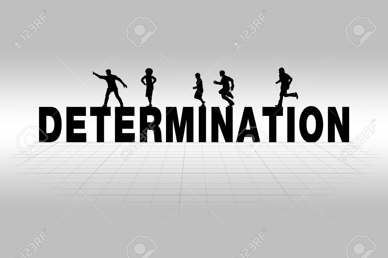 determination word communicating business concept of determination