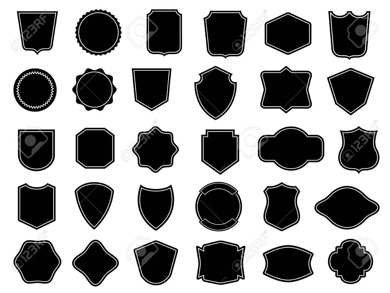 Set of vintage frames for badges - 61632680