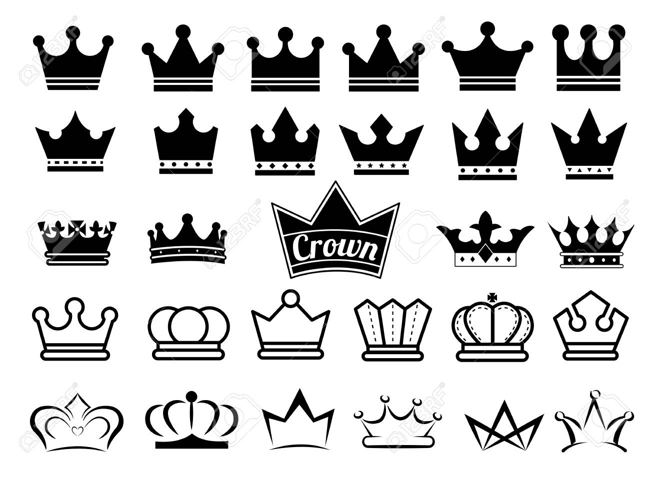 Crown icons - 61752692