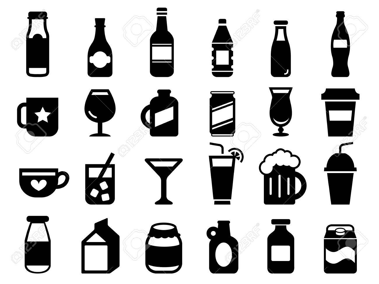 Set of drink and beverage icons - 61752701