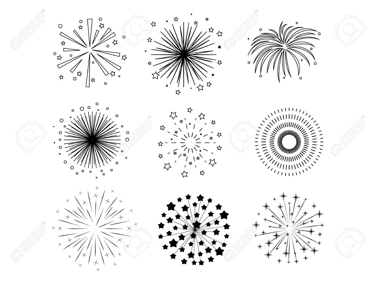 Black fireworks - 61753246