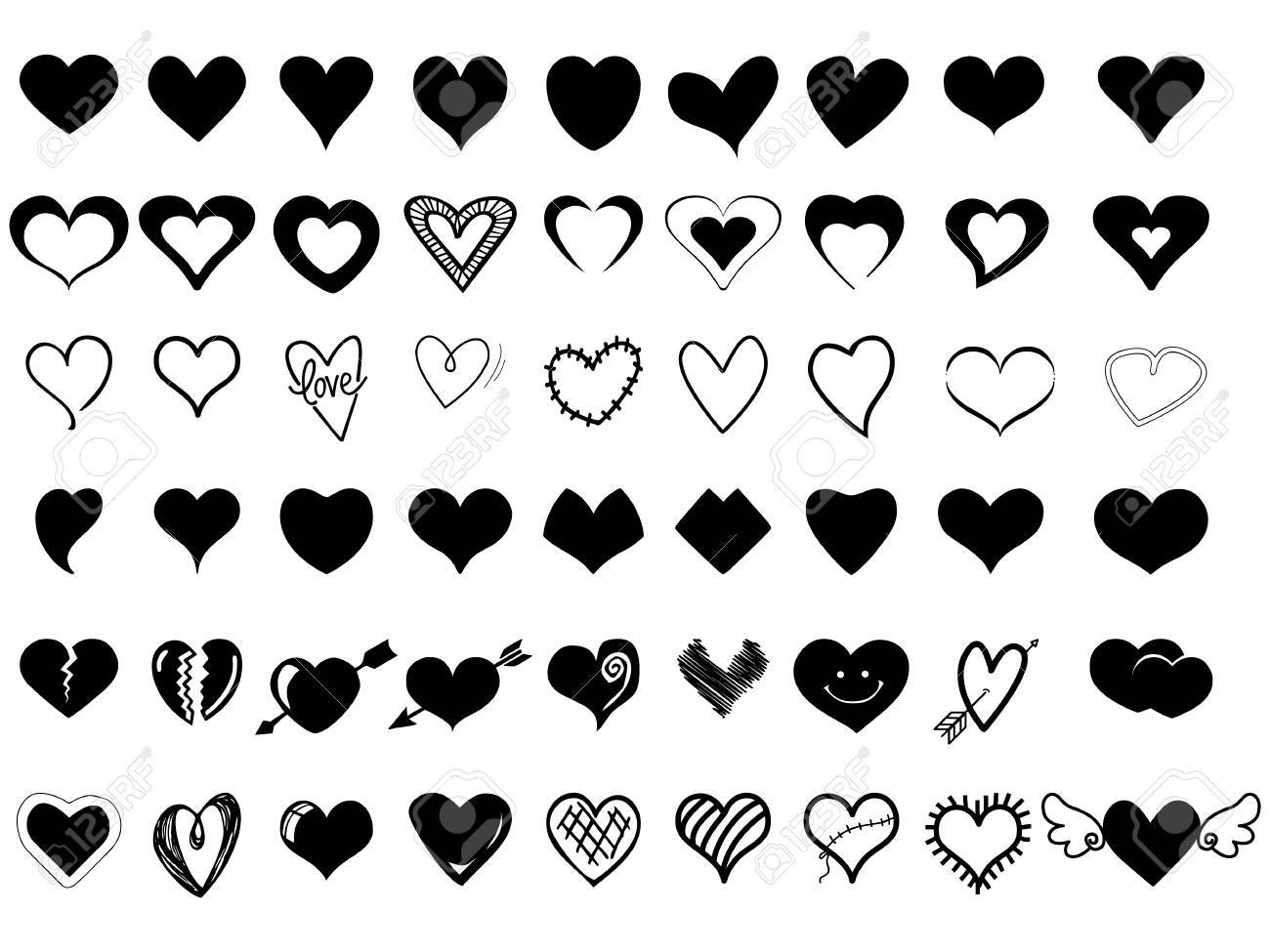 Heart Icons - 61753244