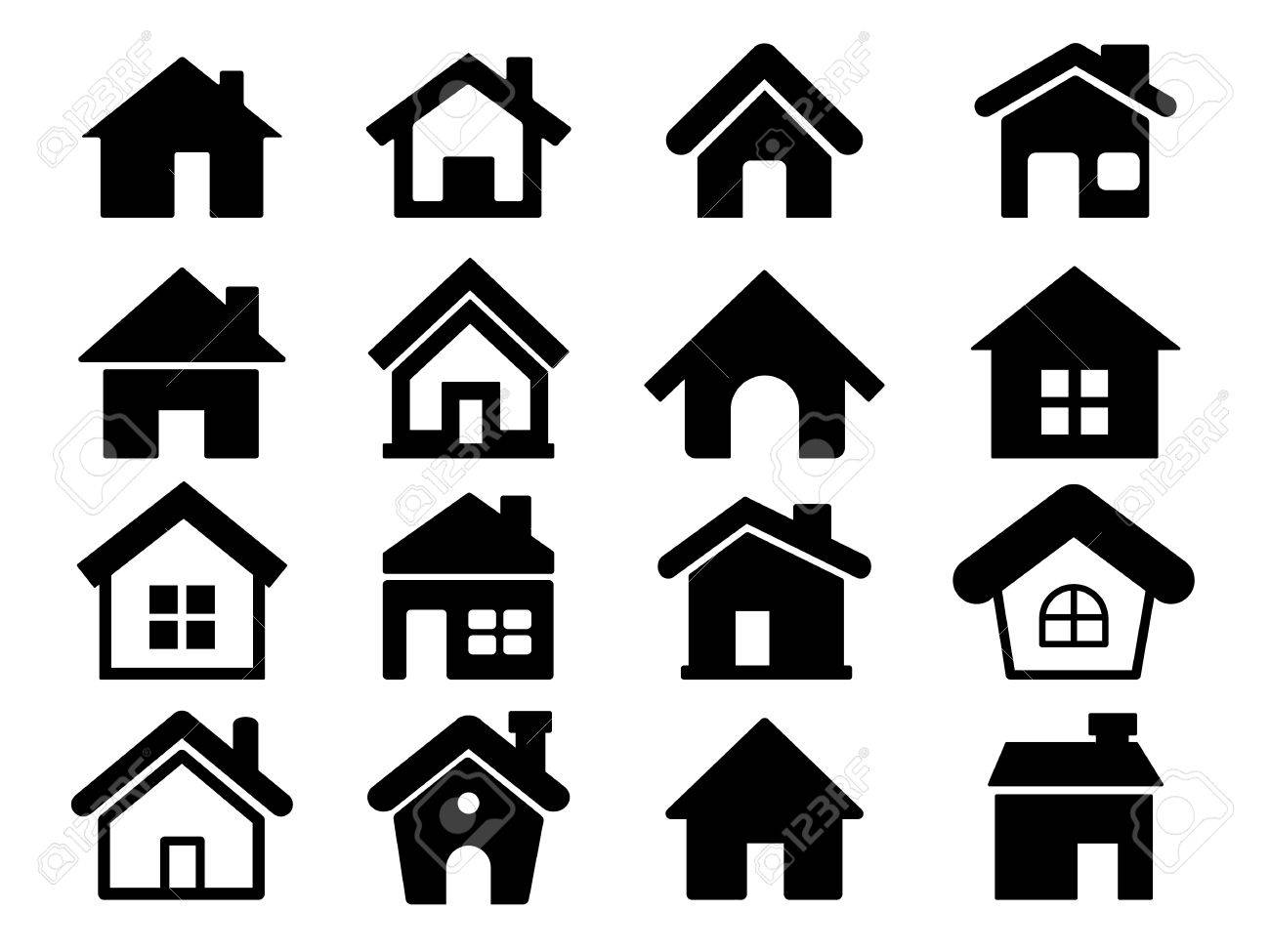 Houses icons set, Home icons - 61753249