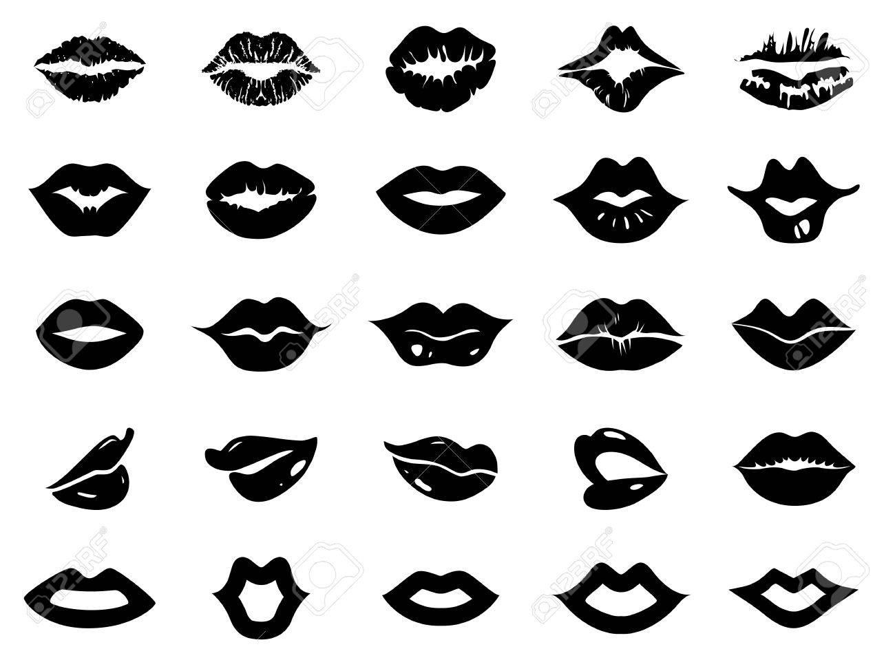 Set of lips icon - 61752731