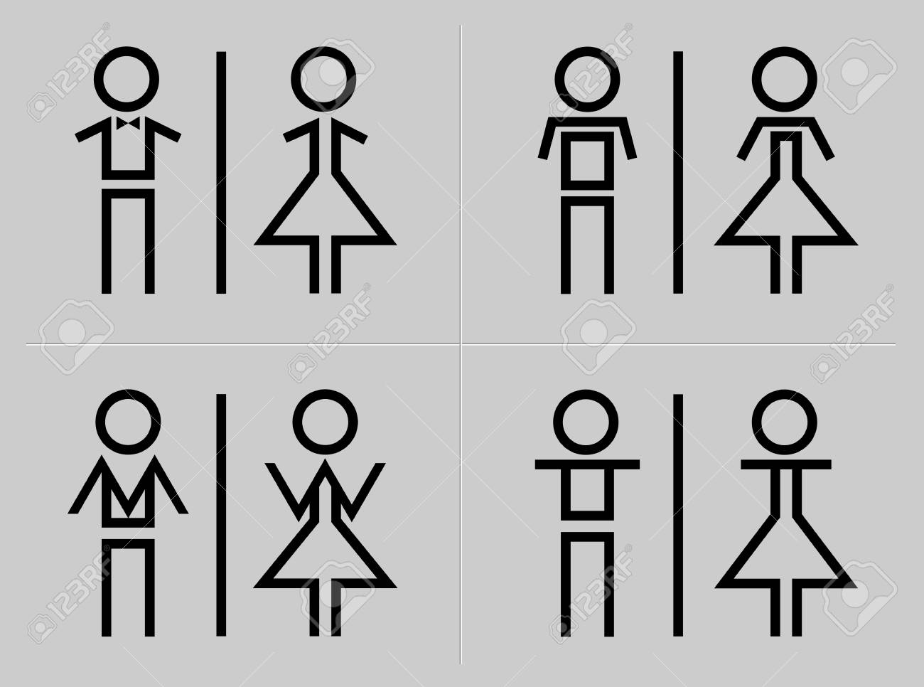Man and woman restroom sign - 61753295