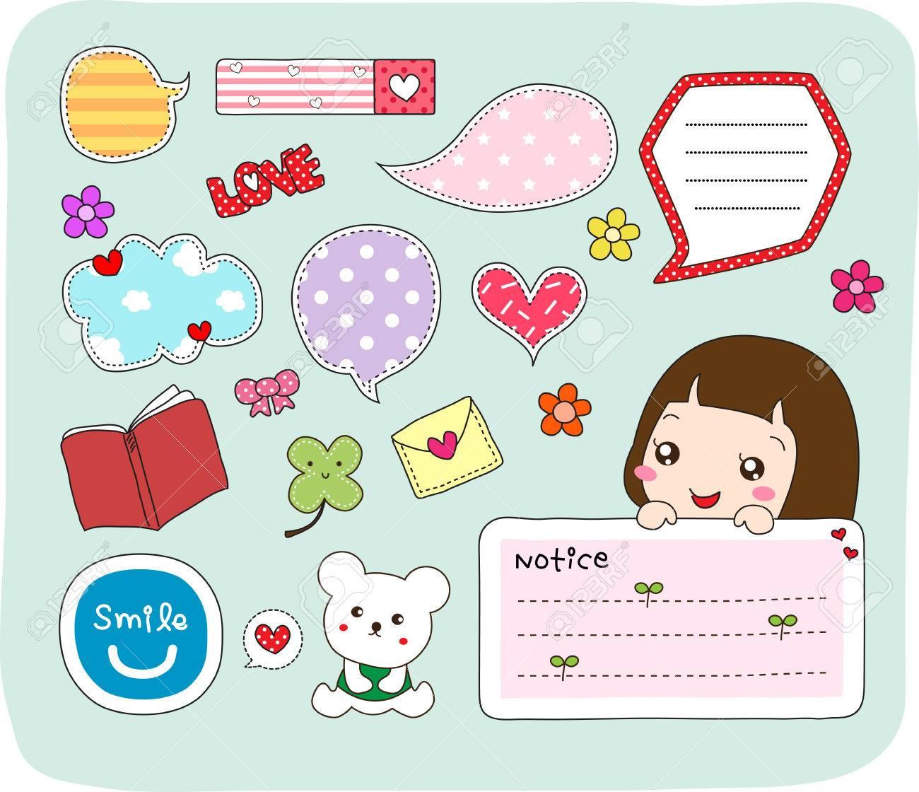 Set of labels, stickers, speech bubbles, frames - 61753296