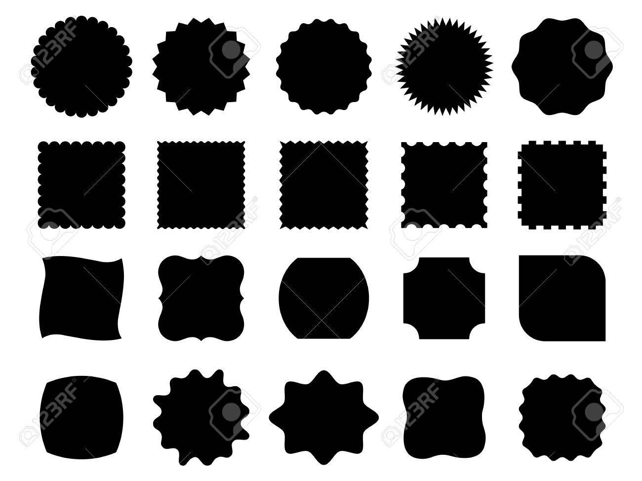 Black vector shapes - 61790300