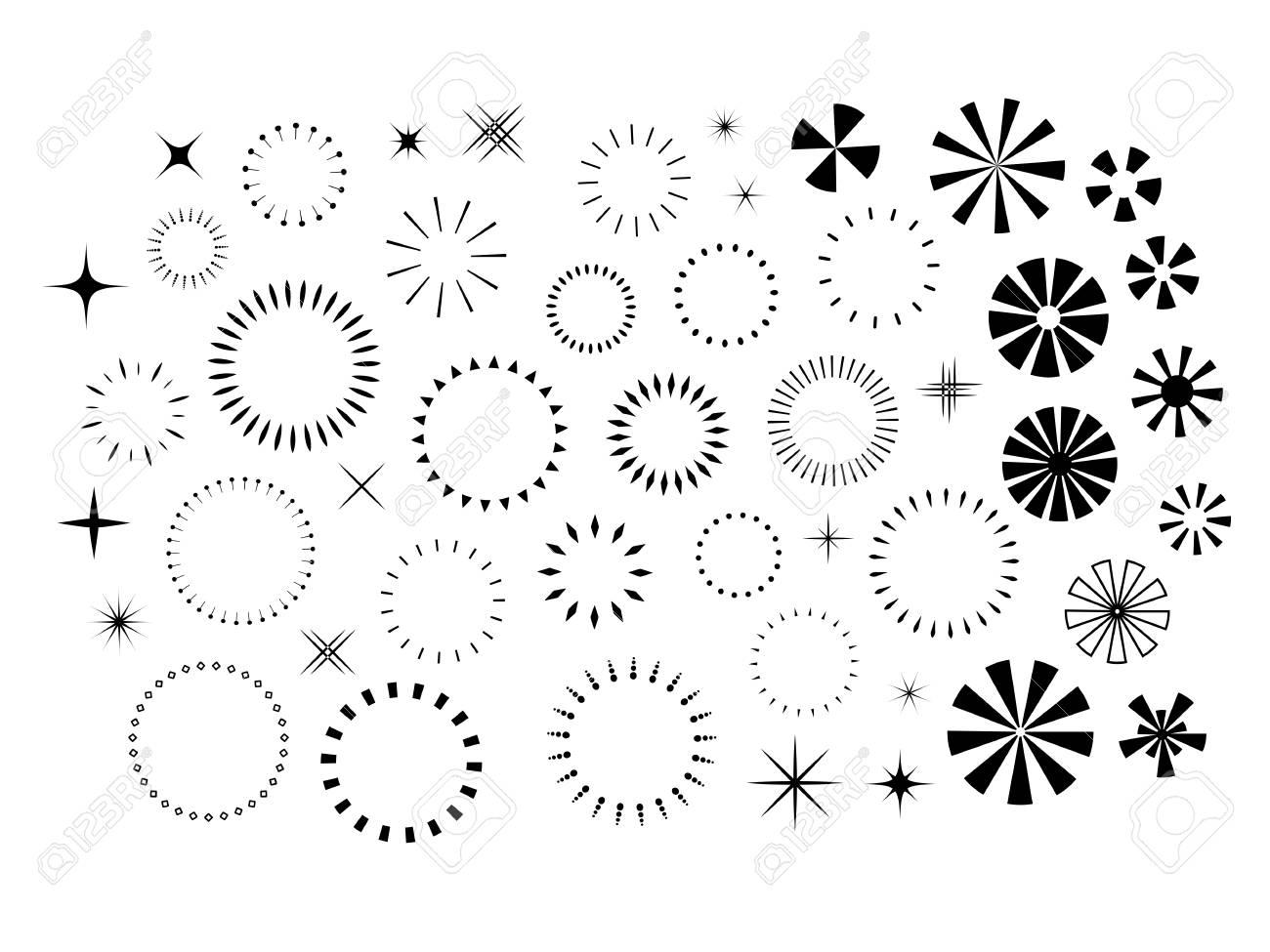 Sparkles and Starbursts set - 61790305