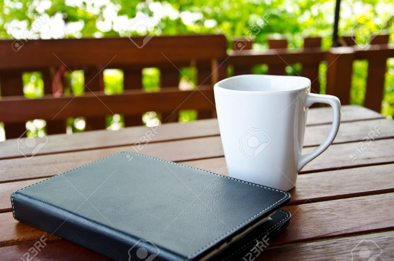 coffee and tablet Stock Photo - 21424816