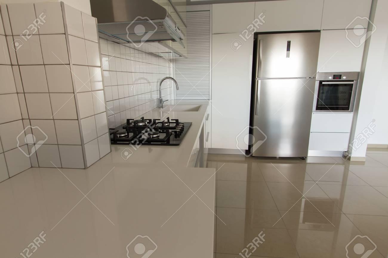 Foto Modernen Weißen Küche Sauber Innenarchitektur. Lizenzfreie ...