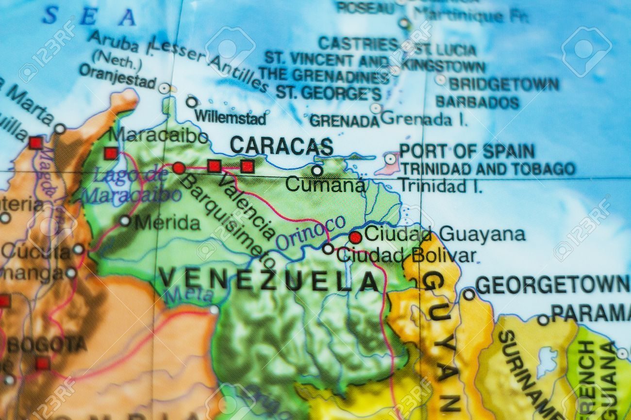 Photo of a map of venezuela and the capital caracas stock photo photo of a map of venezuela and the capital caracas stock photo 55035081 sciox Images