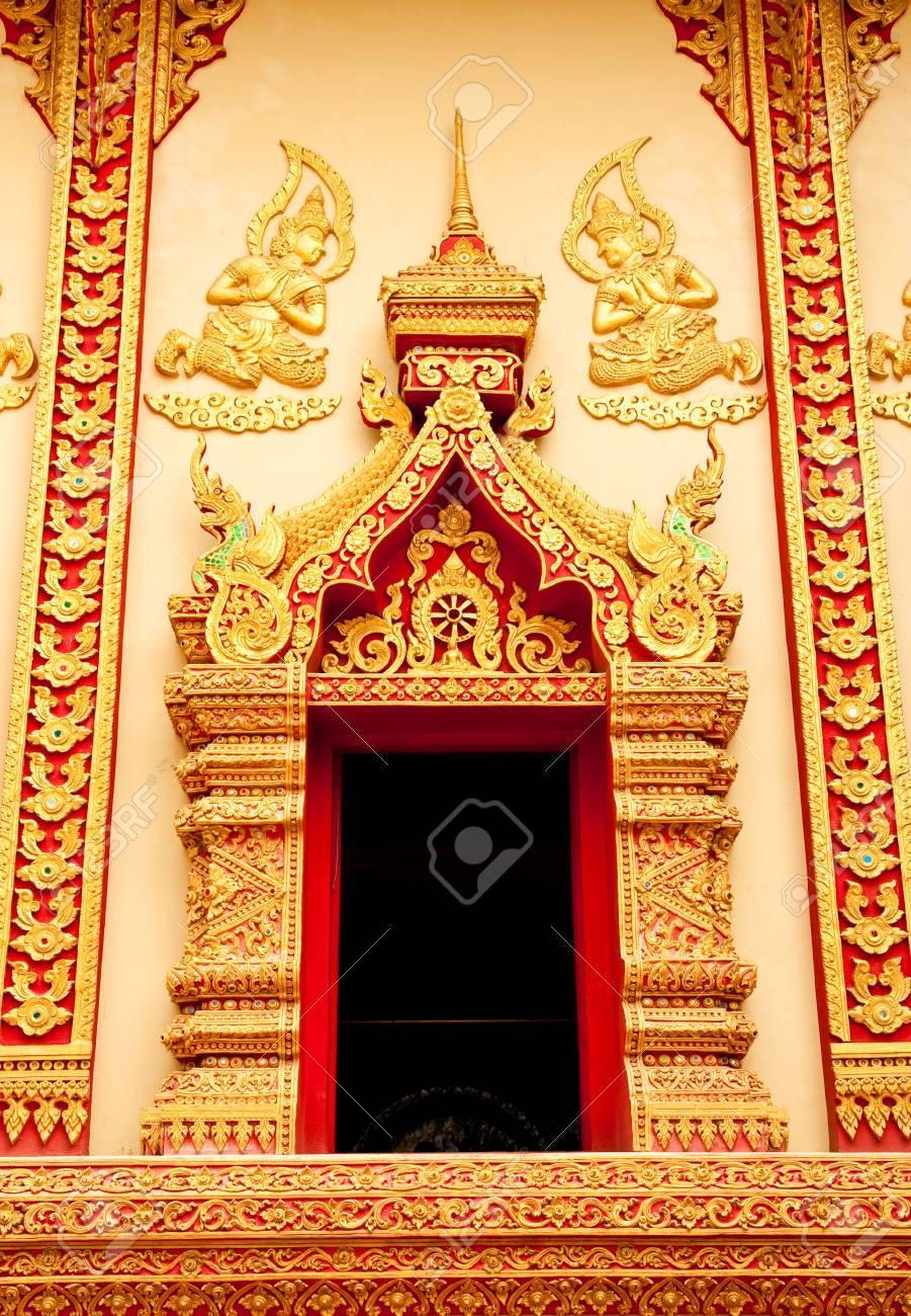 Traditional Thai style art church door Stock Photo - 4688976