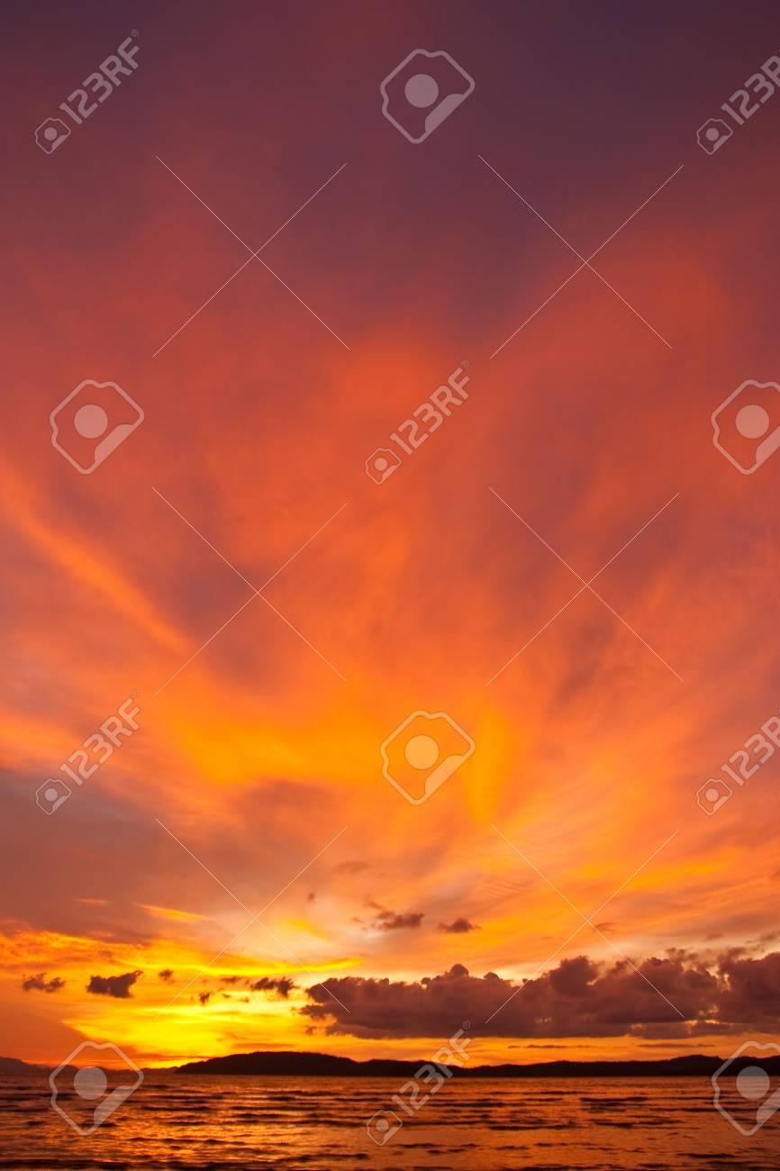 Sunset at Ao Nang bay, south of Thailand Stock Photo - 5609987
