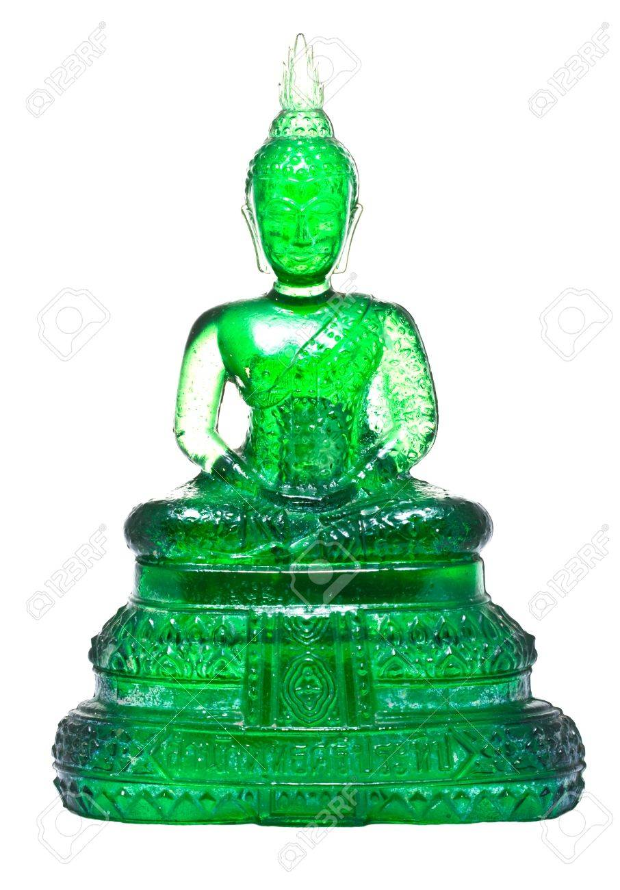 Native Thai style Buddha image made from green glass Stock Photo - 8968538