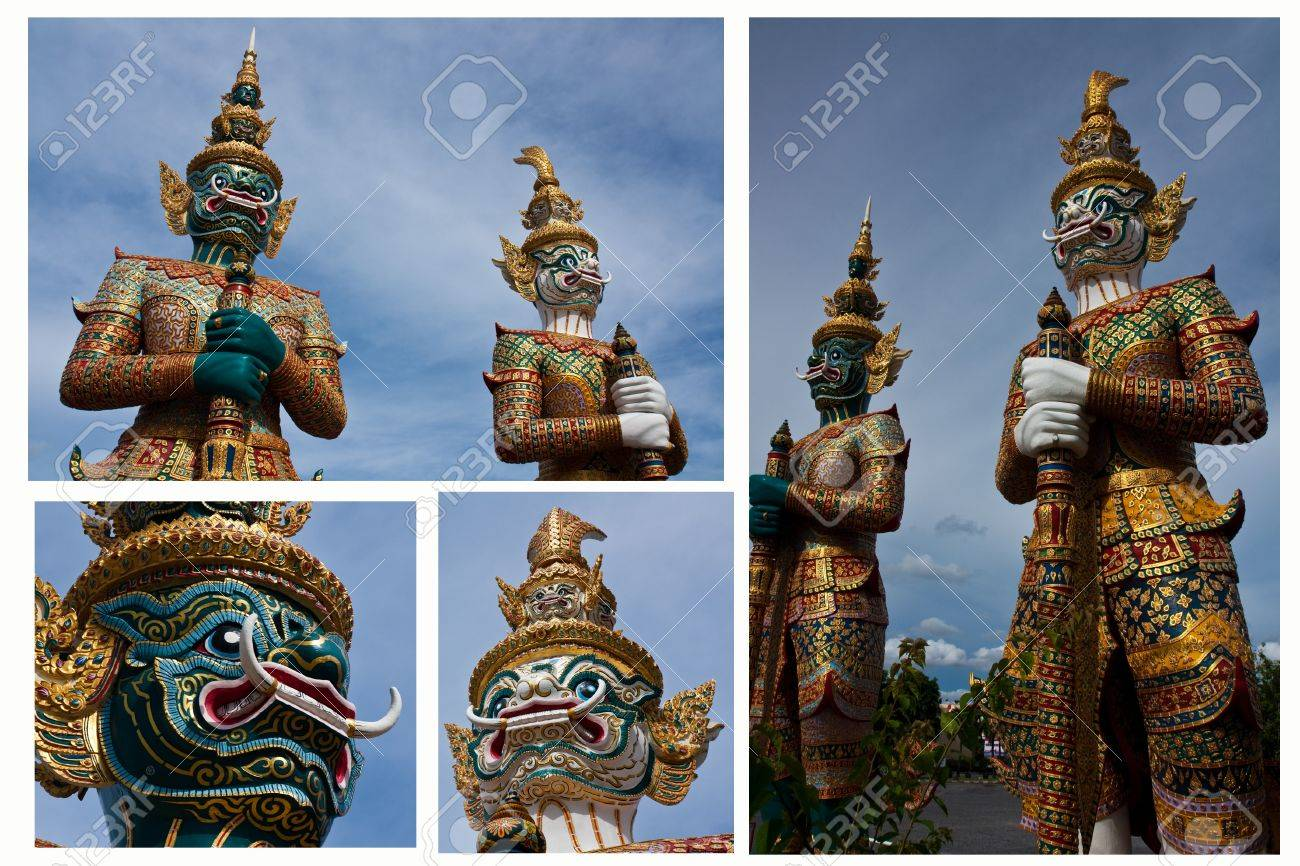Thai giants guard collection Stock Photo - 7545151