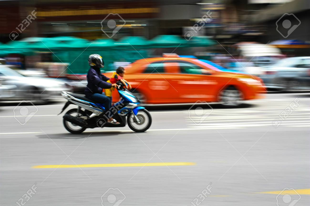 Motion blur of motor bike Stock Photo - 7723413