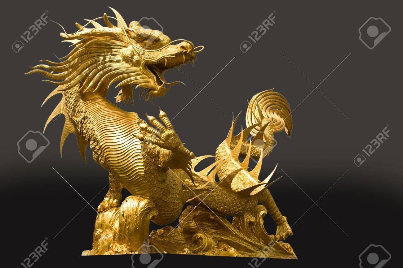Golden dragon statue Stock Photo - 8306124