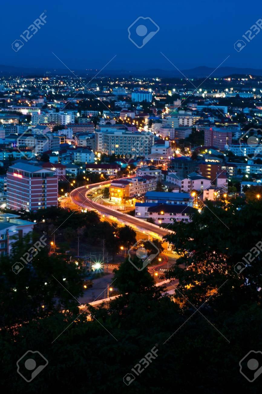 Sky way in Pattaya city,Thailand Stock Photo - 9598990