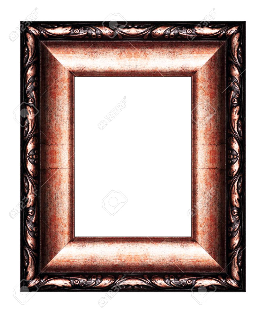 Old Antique Vintage Picture Frames. Isolated On White Background ...