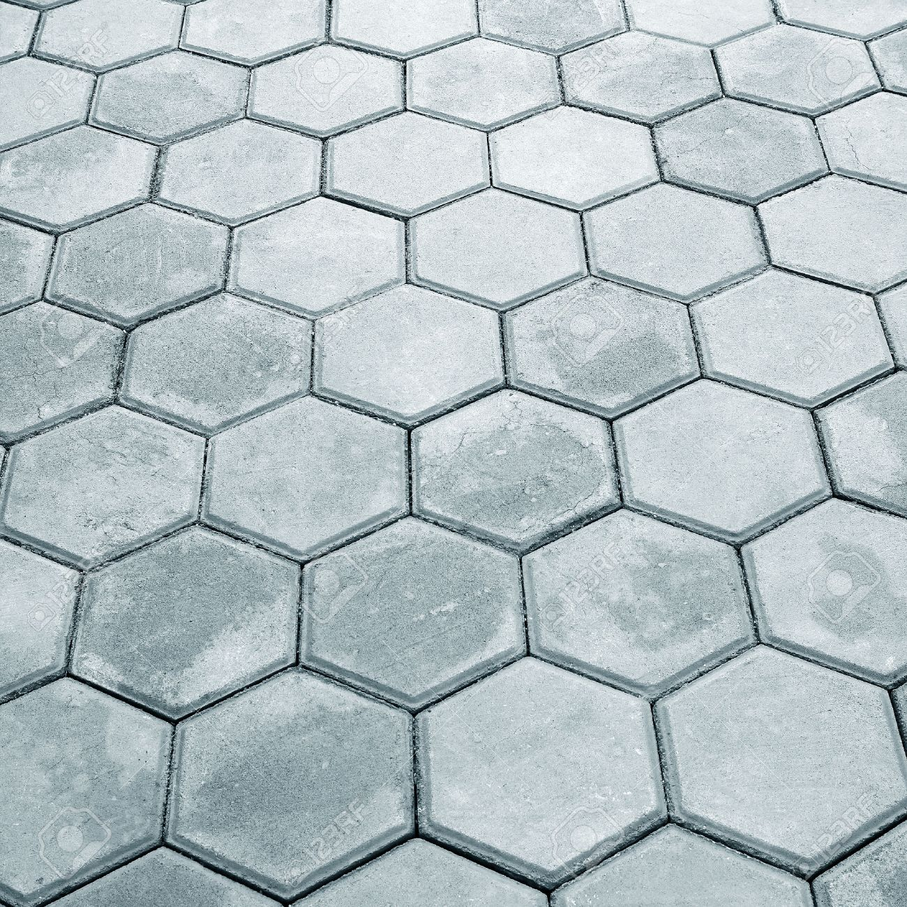 paving hexagon brick walkway the pattern of stone block paving