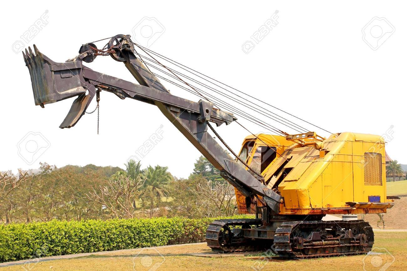 Old Wire Rope Shovel Crane Stock Photo, Picture And Royalty Free ...