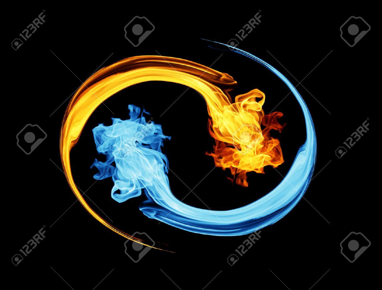 陰陽シンボル、氷と炎 ロイヤリ...