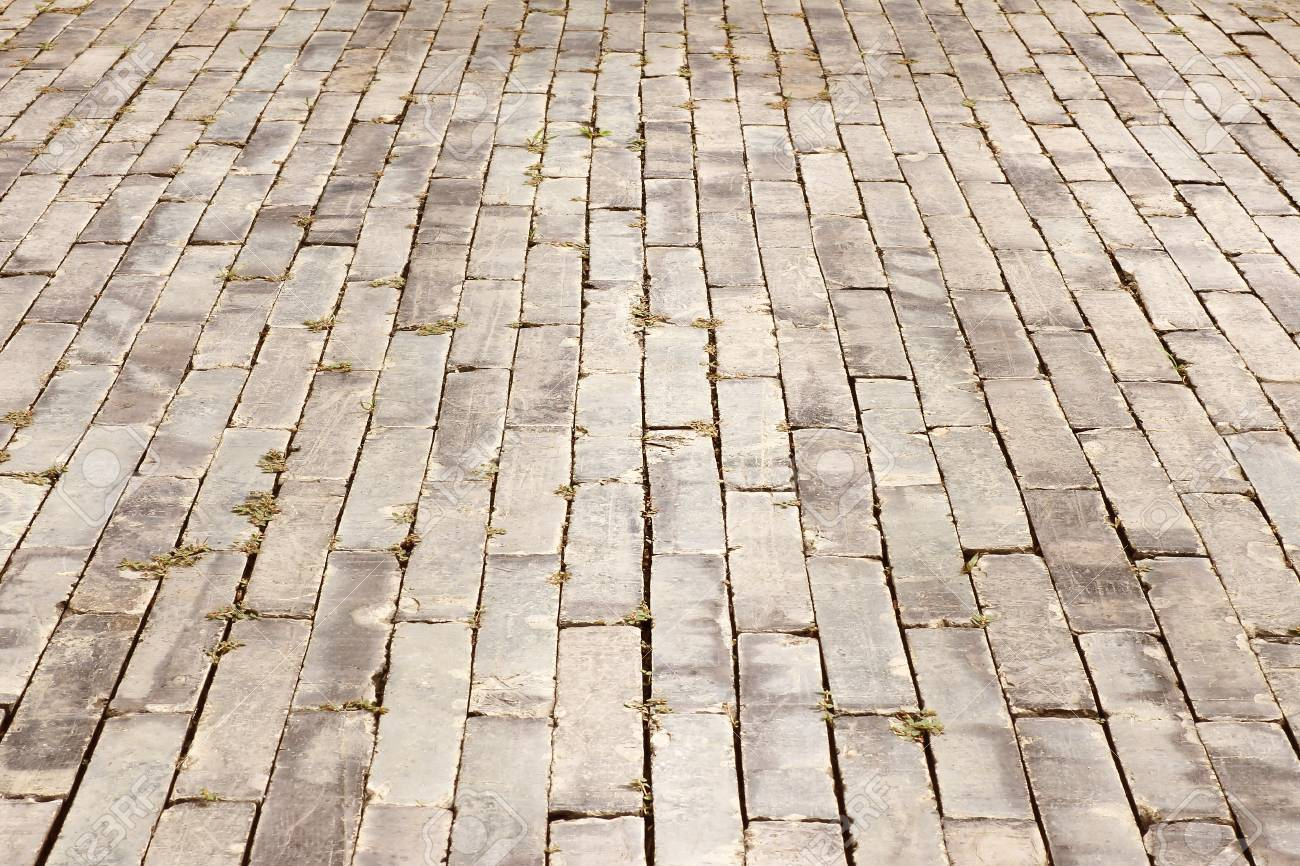 Brick Walkway Stone Texture. Abstract Structured Background. Stock ...