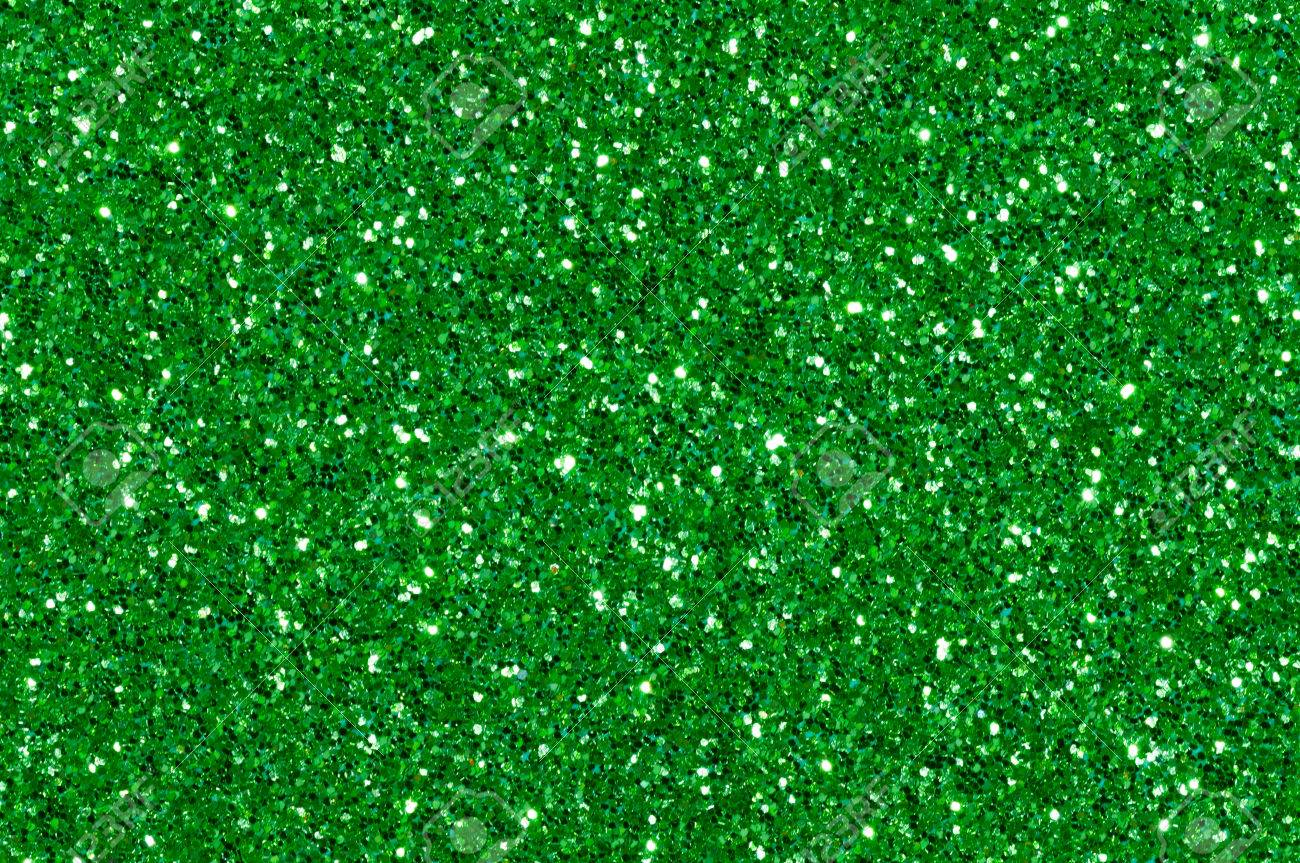 Christmas Green.Green Glitter Texture Christmas Abstract Background