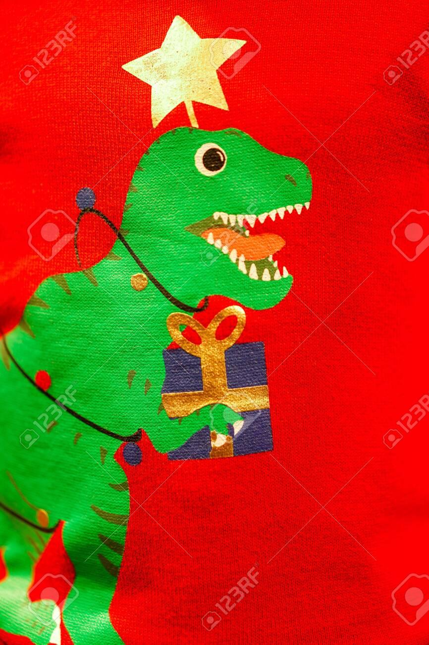 T Rex Christmas.Creative Green T Rex Christmas Tree Print Screen On On Knitting