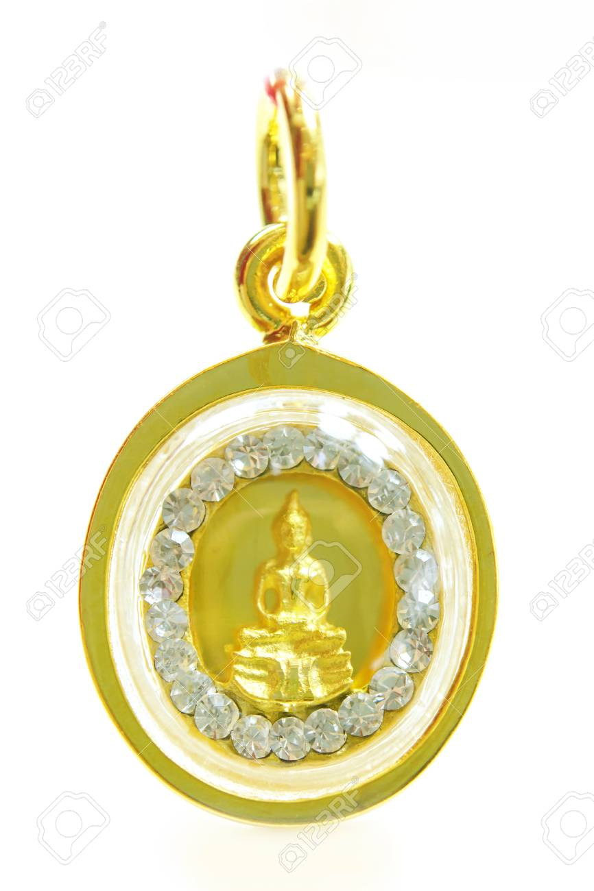 Gold buddha pendant with special thai gold design isolated on gold buddha pendant with special thai gold design isolated on white background stock photo 87256559 aloadofball Images