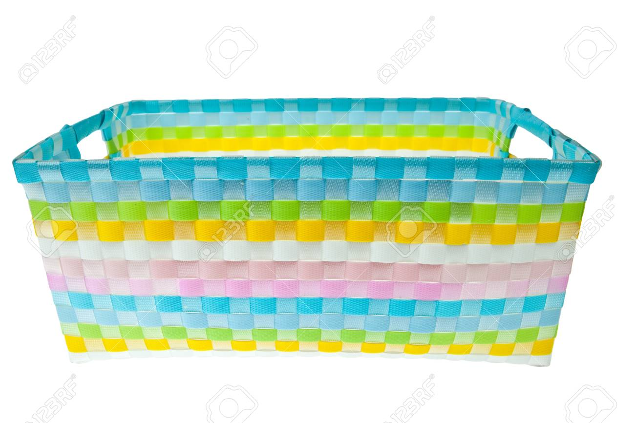Colorful pastic basket Stock Photo - 9862730