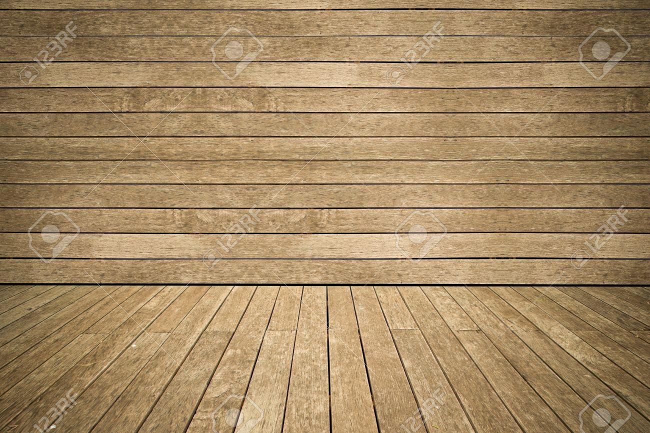 Mur et le revêtement au sol altéré fond de bois