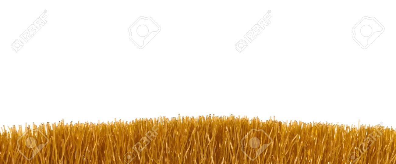 Brown fiber brush closeup isolated on white background Stock Photo - 17605997