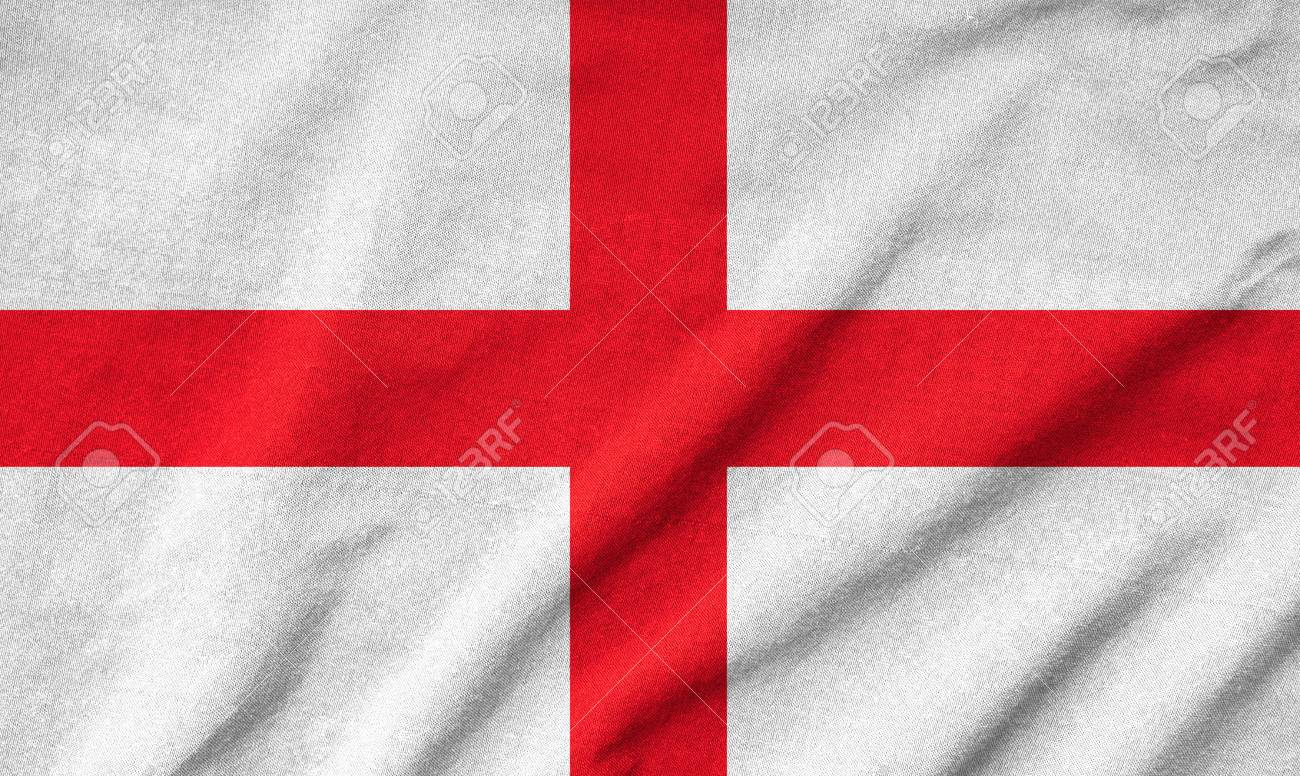 Ruffled England Flag Stock Photo - 22833175