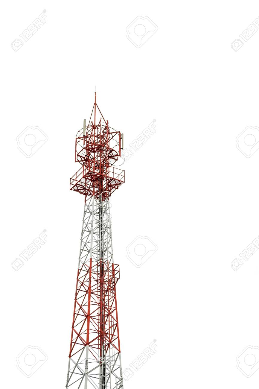 Mobile phone communication repeater antenna tower is isolated