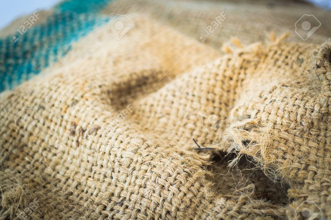 Closeup of old sack which is torn Stock Photo - 18796340