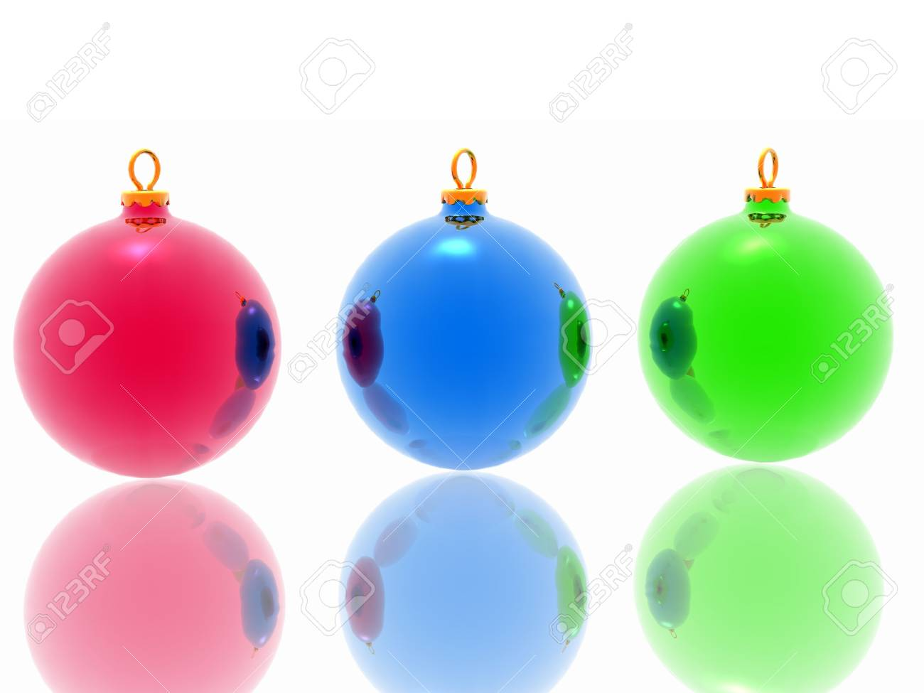 Different christmas decoration on white background Stock Photo - 2215820