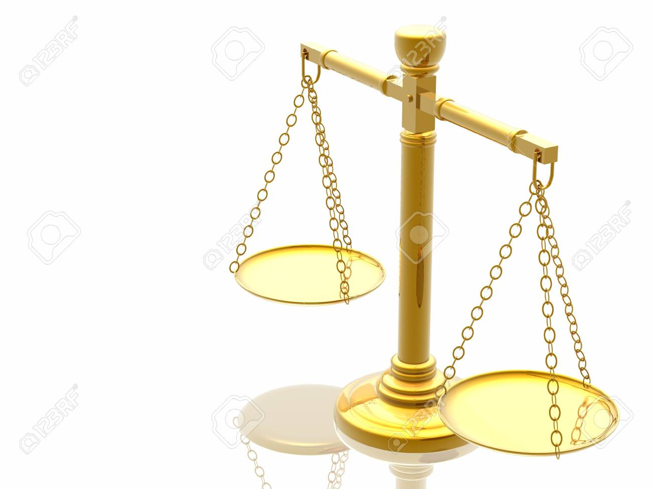 Justices scales (High Quality 3D Rendering) Stock Photo - 2516384