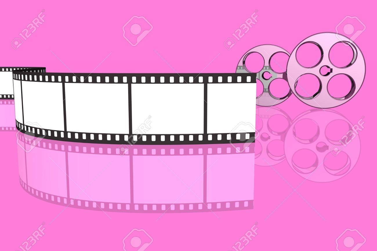 blank film strip and reels isolated over pink background stock photo picture and royalty free image image 3068208 blank film strip and reels isolated over pink background