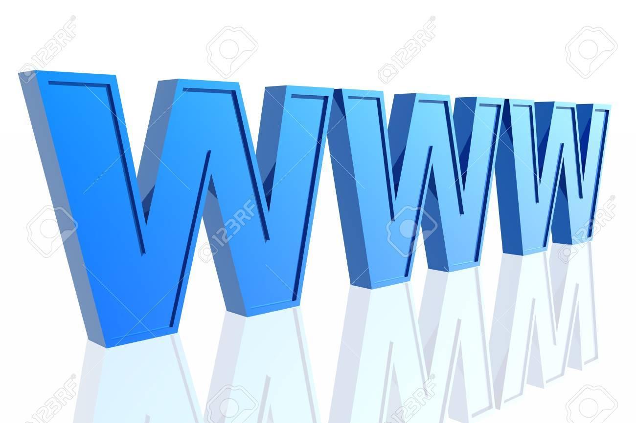 3d World Wide Web internet symbol Stock Photo - 3884988