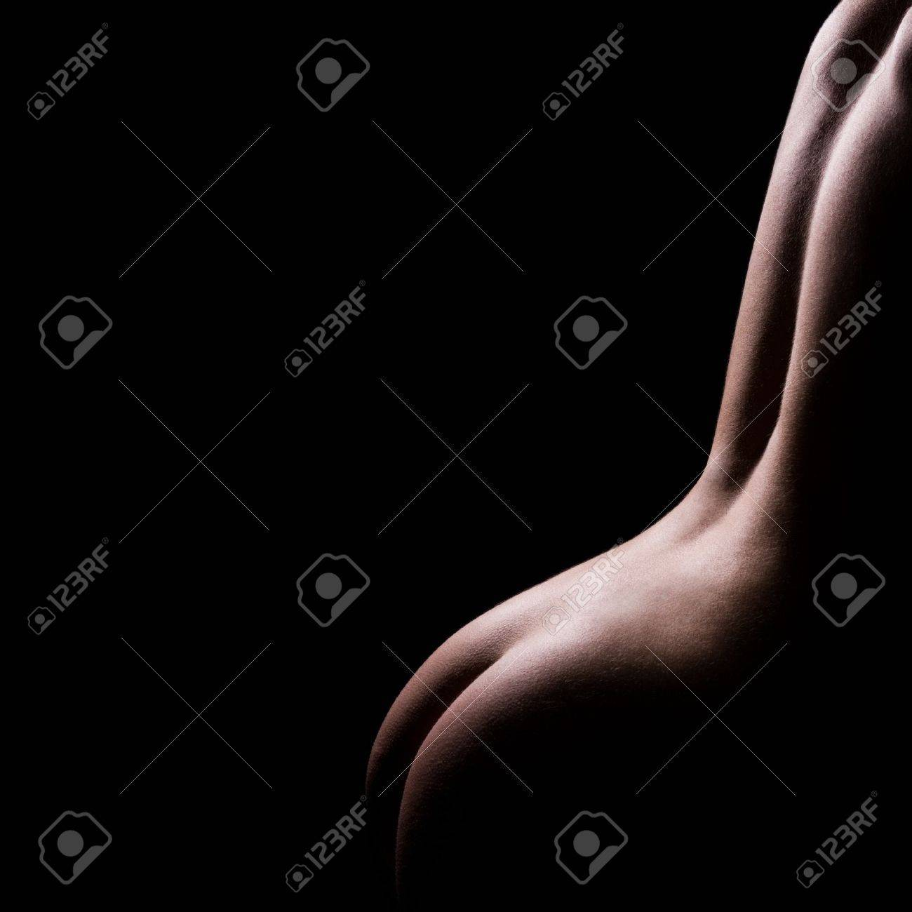 classic low key photo of sexy woman body Stock Photo - 4021975