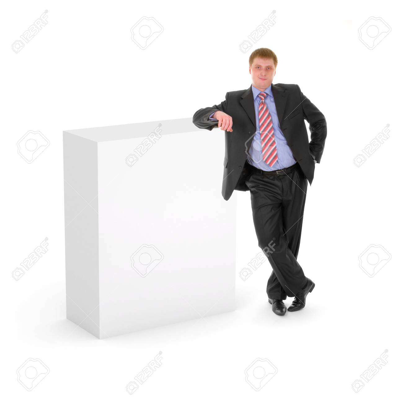 Blank box with business man Stock Photo - 4210413