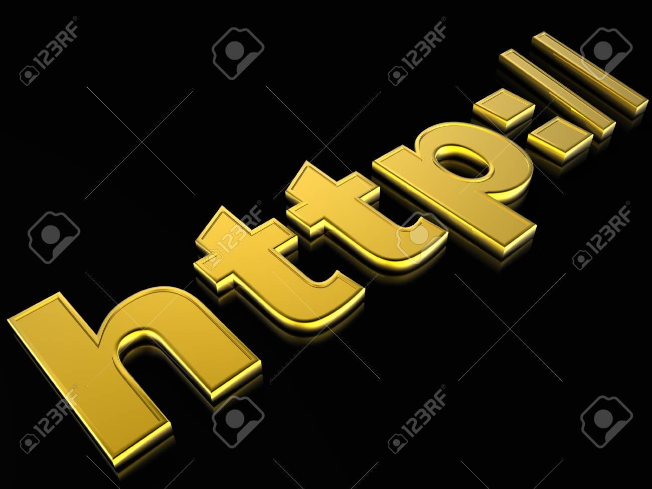 3d illustration internet sign Stock Photo - 4530101
