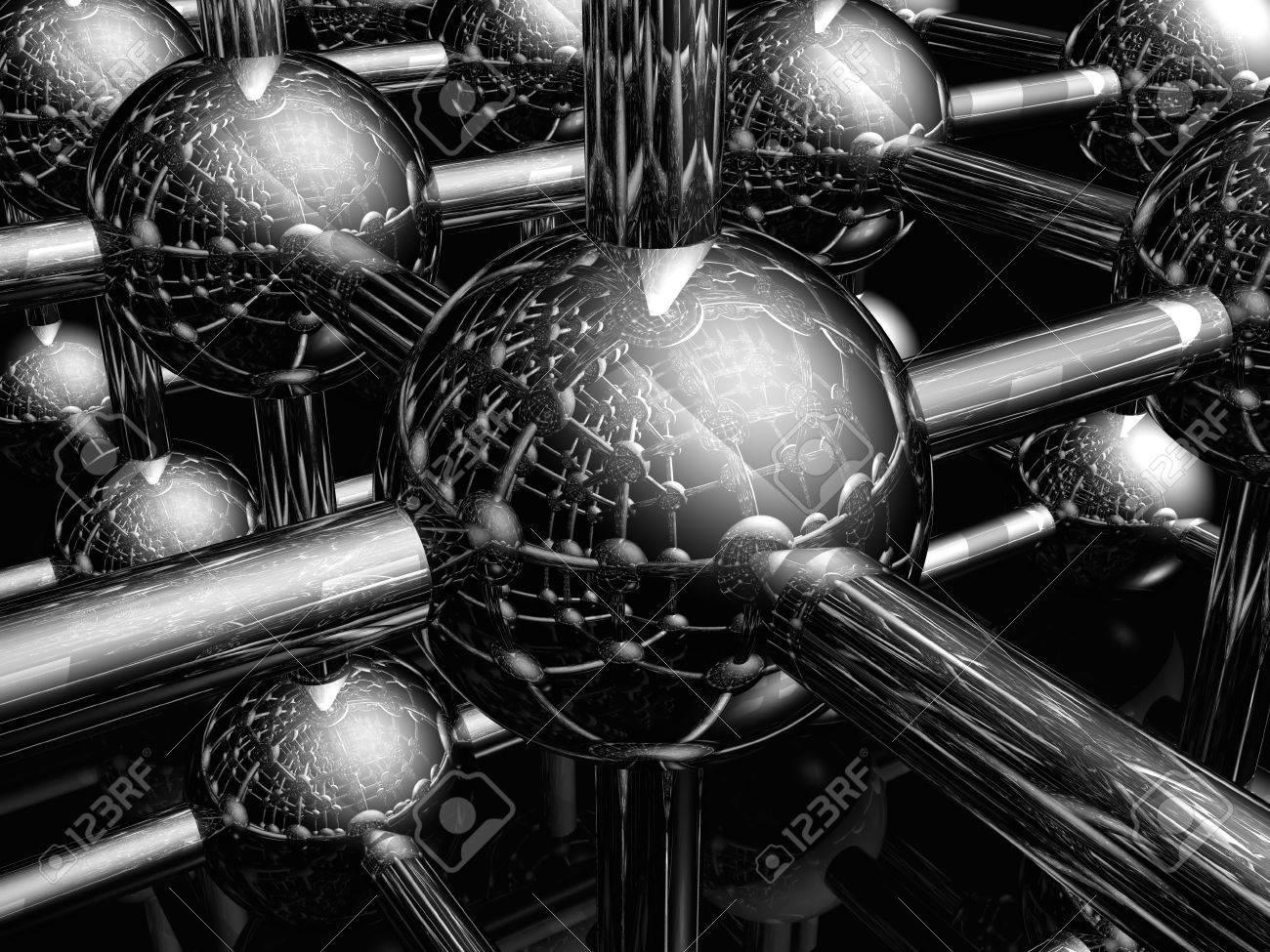 Render of molecule Stock Photo - 4530171