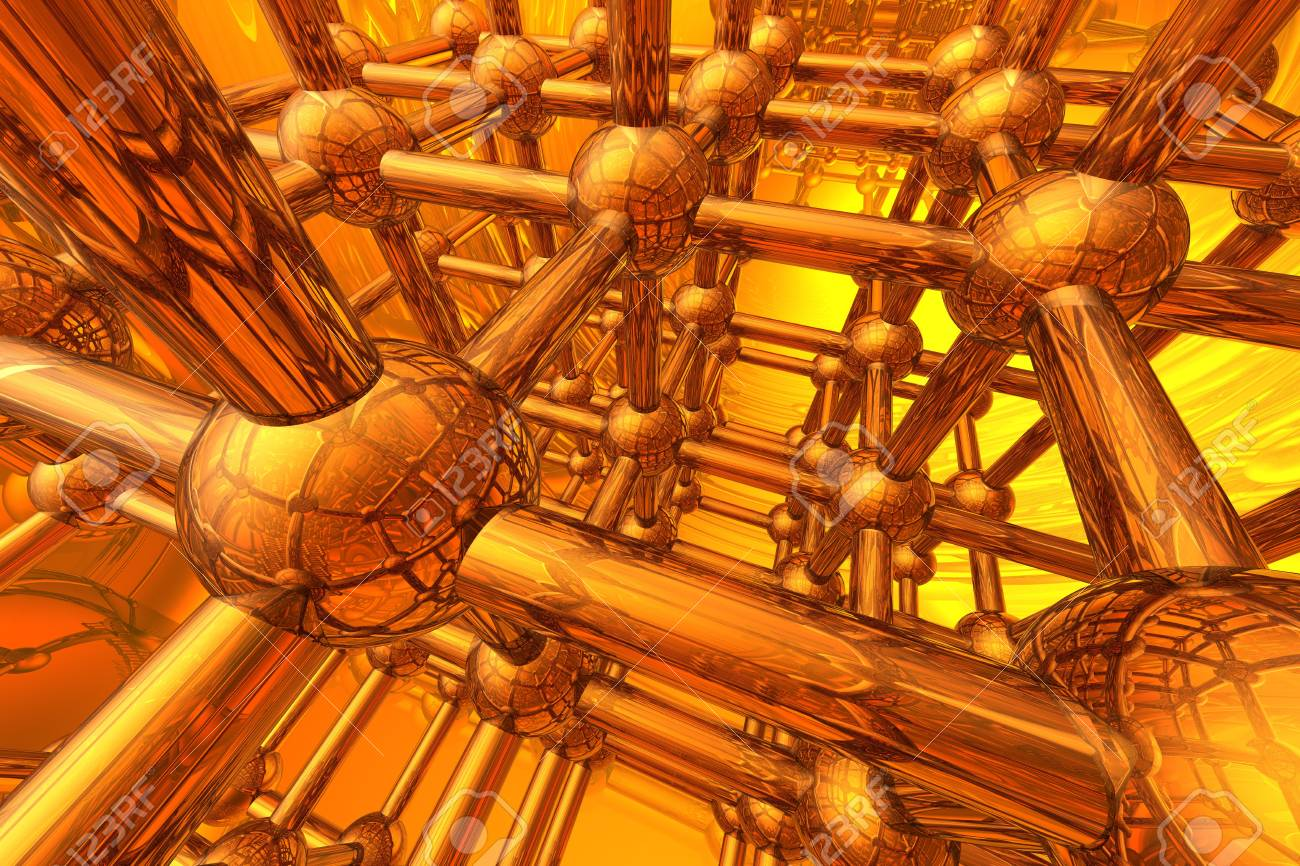 Render of molecule Stock Photo - 4724696
