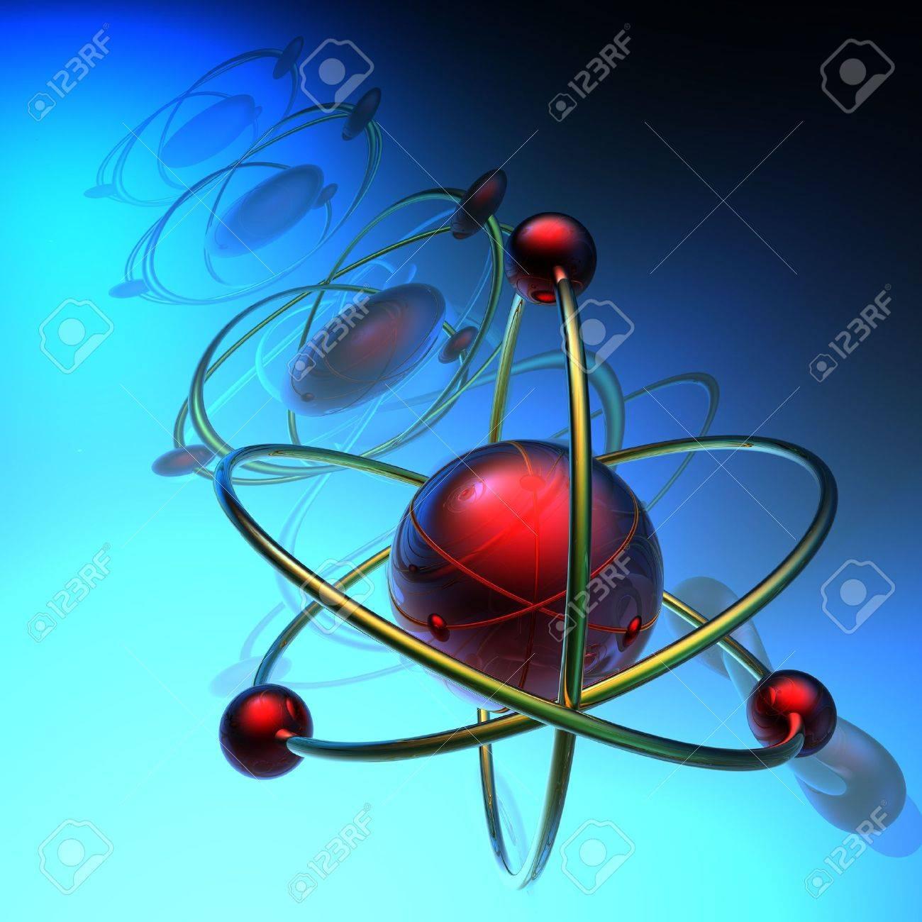 Render of molecule Stock Photo - 4800452