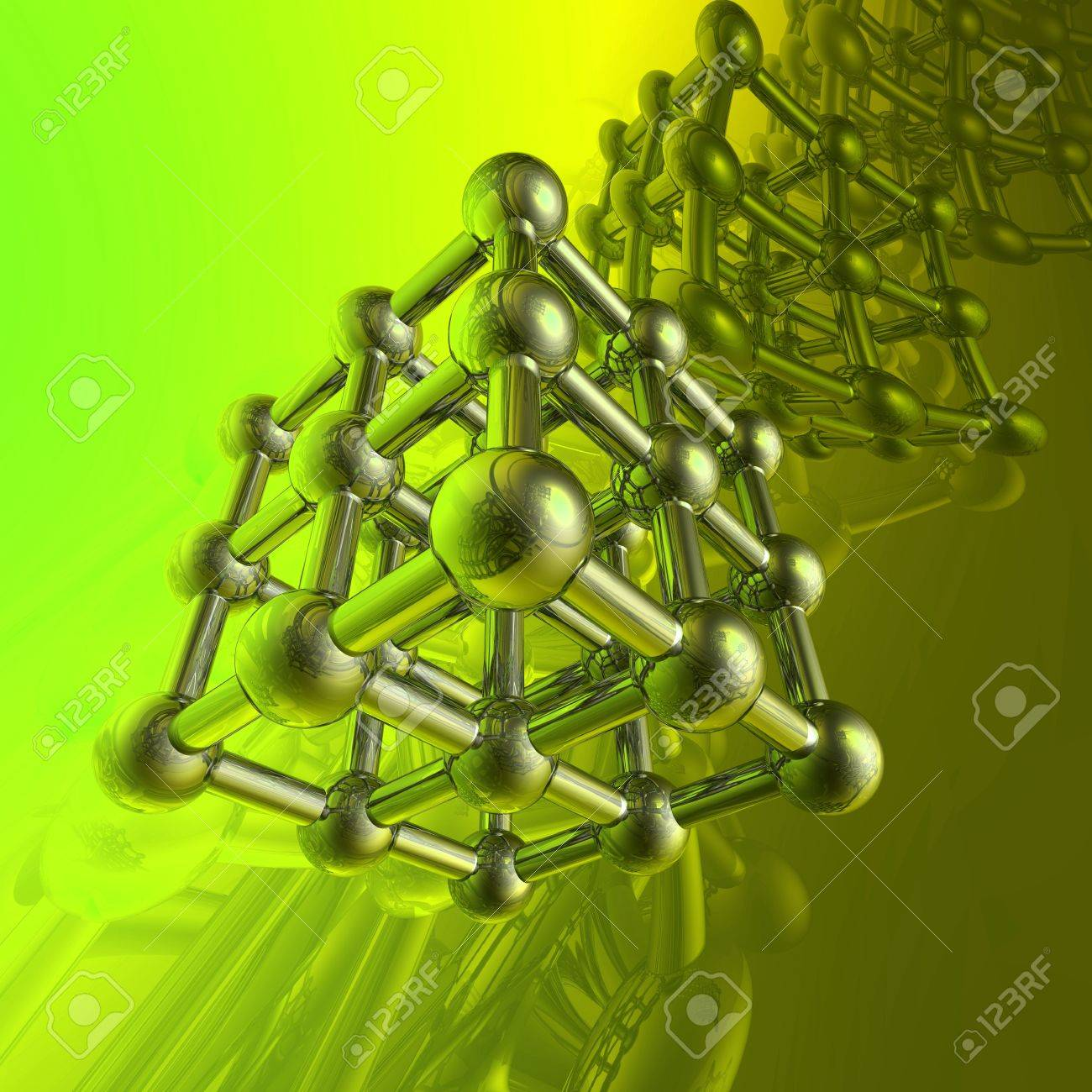 Render of molecule Stock Photo - 6895286
