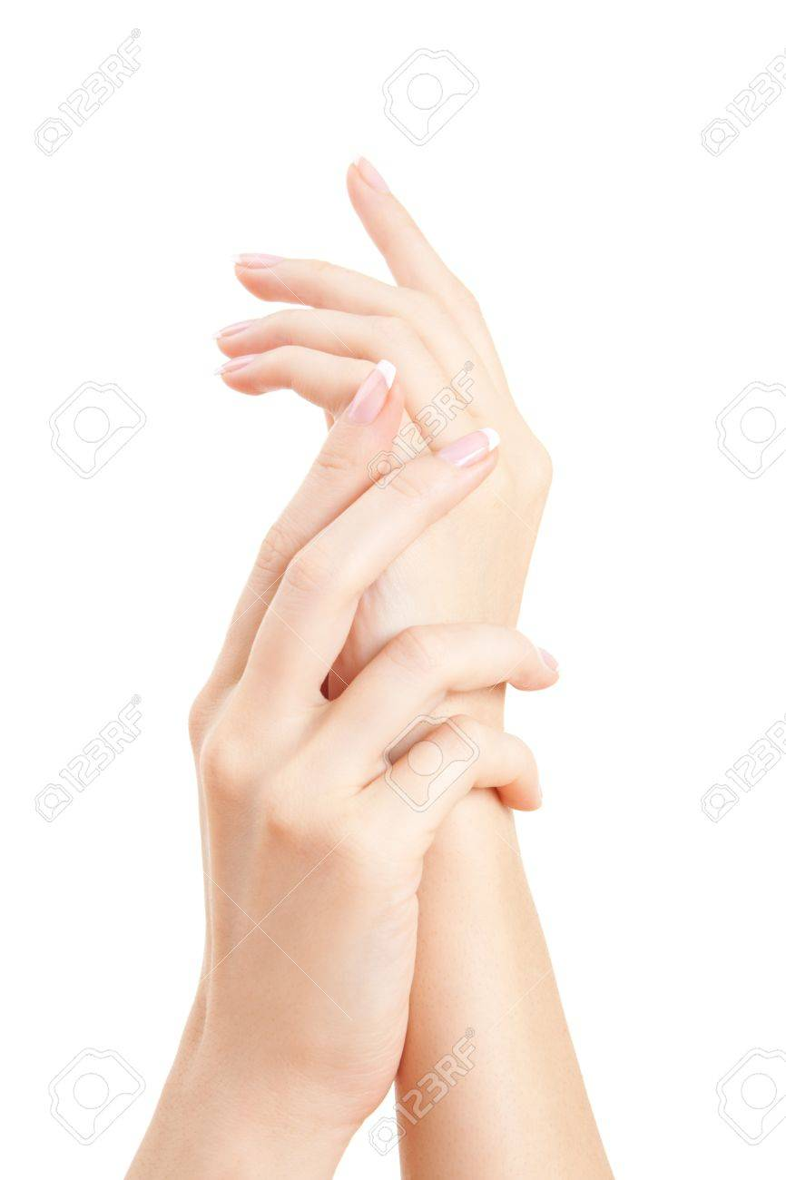 care for sensuality woman hands Stock Photo - 7221068
