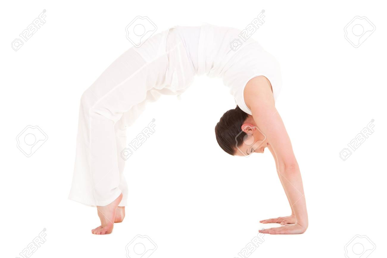 Young woman doing yoga exercise Stock Photo - 9529433